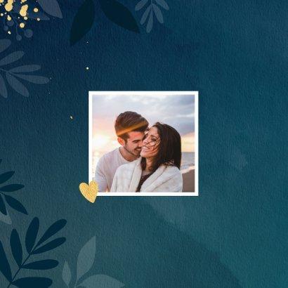 Stijlvolle botanische trouwkaart 2
