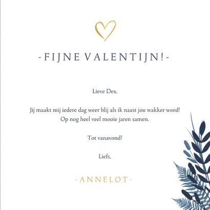 Stijlvolle botanische valentijnskaart Knuffel met foto 3