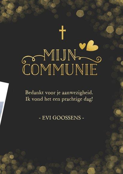 Stijlvolle communie bedankkaartje met gouden accenten 3