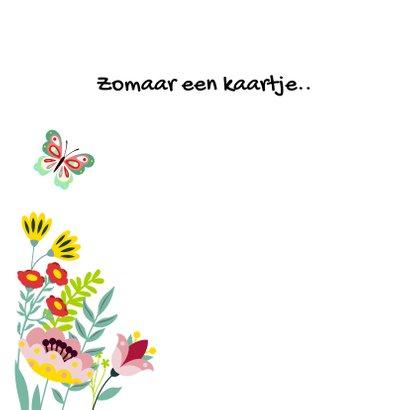 Stijlvolle en kleurrijke bloemenkaart met envelop 2