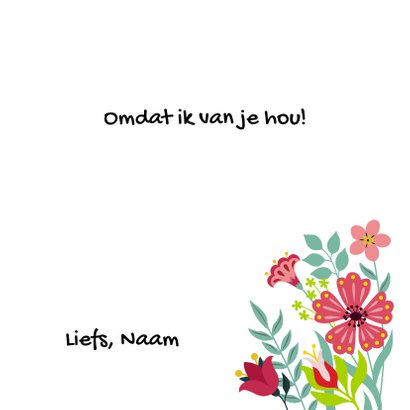 Stijlvolle en kleurrijke bloemenkaart met envelop 3