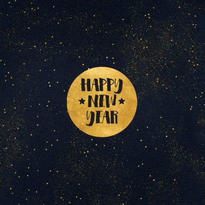 Stijlvolle foto kerstkaart met gouden cirkel en typografie 2