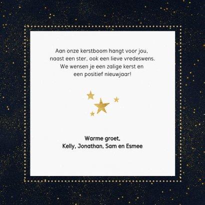Stijlvolle foto kerstkaart met gouden cirkel en typografie 3
