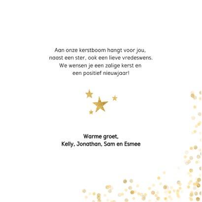Stijlvolle foto kerstkaart met gouden confetti en cirkel 3