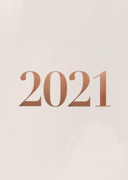 Stijlvolle fotokaart in kerstsfeer met 2021 2