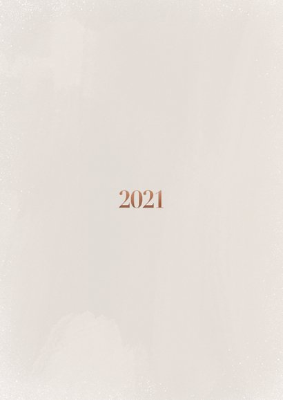 Stijlvolle fotokaart in kerstsfeer met 2021 Achterkant