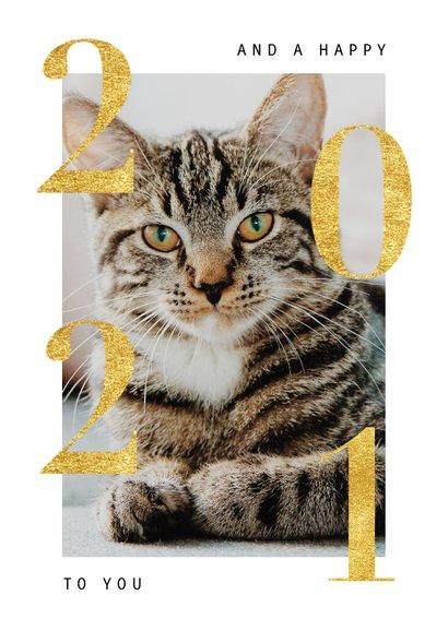 Stijlvolle fotokaart kerst met goudlook 'XMAS' 2