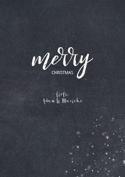 Stijlvolle fotokaart met sneeuw en merry christmas 3