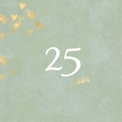 Stijlvolle huwelijk jubileum uitnodiging 25 jaar foto 2
