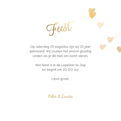 Stijlvolle huwelijk jubileum uitnodiging 25 jaar foto 3