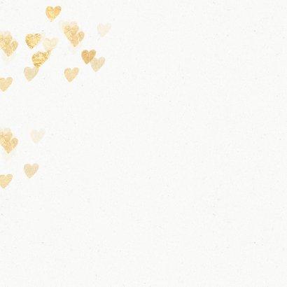 Stijlvolle huwelijksjubileum uitnodiging hartjes 2