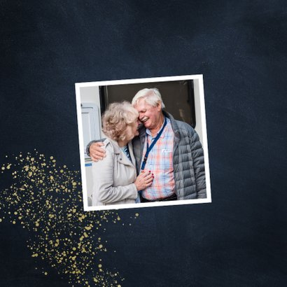 Stijlvolle jubileumkaart 50 jaar goudspetters 2