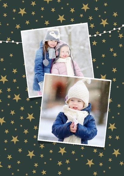 Stijlvolle kerst fotocollage kaart met een witte achtergrond 2