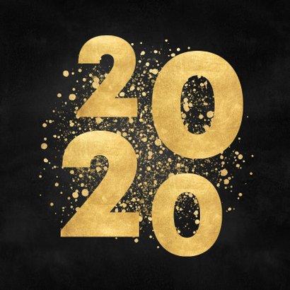 Stijlvolle kerstkaart gouden 2020 en Merry Christmas 2