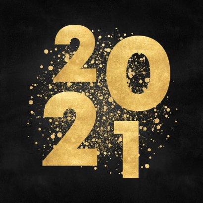 Stijlvolle kerstkaart gouden 2021 en Merry Christmas 2