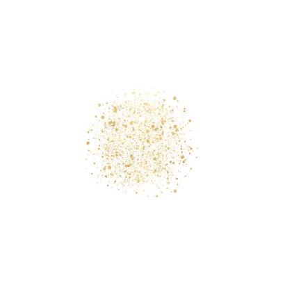Stijlvolle kerstkaart gouden 2021, spetters Merry Christmas Achterkant