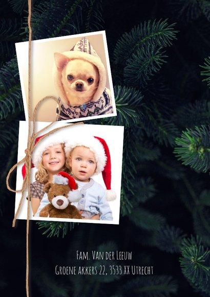 Stijlvolle kerstkaart met foto's 2
