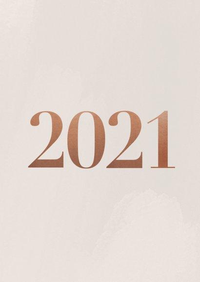 Stijlvolle kerstkaart met fotocollage en 2021 2