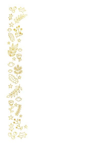 Stijlvolle kerstkaart met goudlook botanisch kader 2