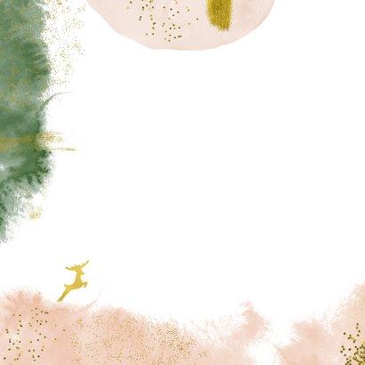Stijlvolle kerstkaart met goudlook en waterverf 2