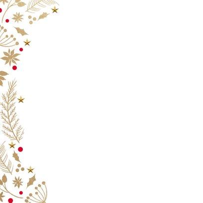 Stijlvolle kerstkaart wit goud merry christmas 2