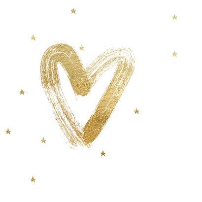 Stijlvolle lieve kerstkaart Big Hug met hart 2