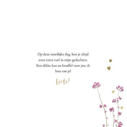 Stijlvolle moederdagkaart met veldbloemetjes en waterverf 3