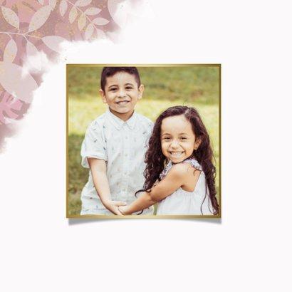 Stijlvolle moederdagkaart voor oma met plantjes en roze 2