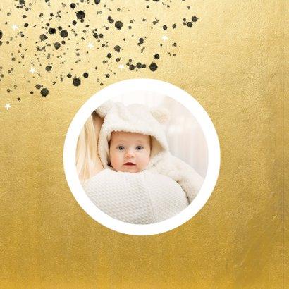 Stijlvolle nieuwjaarskaart 2021 goudlook spetters en foto 2