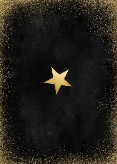 Stijlvolle nieuwjaarskaart 2021 in goud fotocollage Achterkant