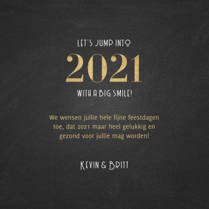 Stijlvolle nieuwjaarskaart a happy 2021 patroon 3