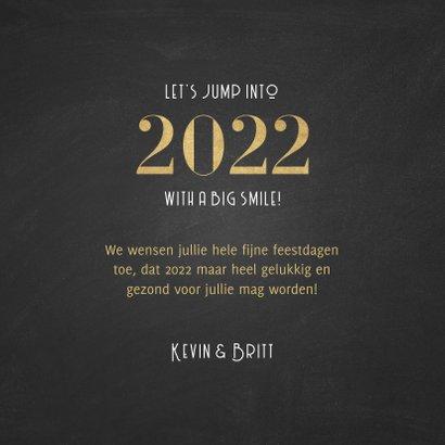 Stijlvolle nieuwjaarskaart a happy 2022 patroon 3