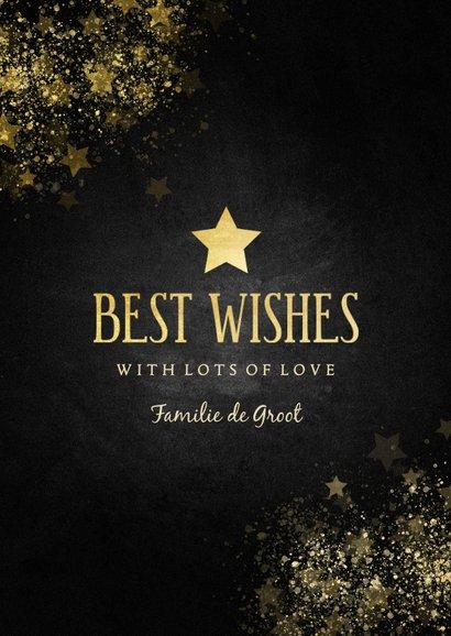 Stijlvolle nieuwjaarskaart gouden ster met foto 3