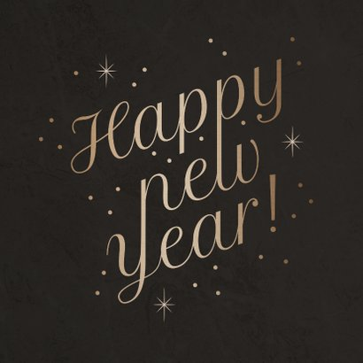 Stijlvolle nieuwjaarskaart 'Happy New Year' fonkels 2