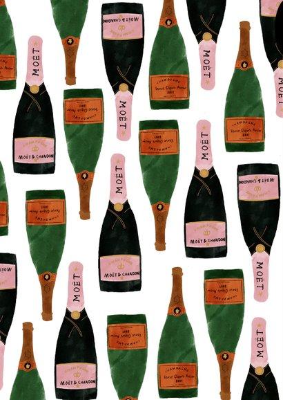 Stijlvolle nieuwjaarskaart met champagne en 2021 2