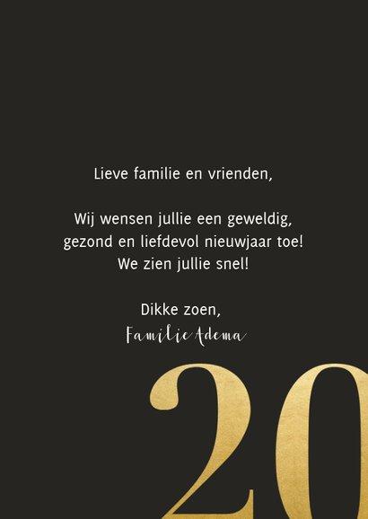 Stijlvolle nieuwjaarskaart met grote foto en 2020 3