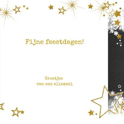 Stijlvolle nieuwjaarskaart sneeuw en sterren  champagne 2019 3