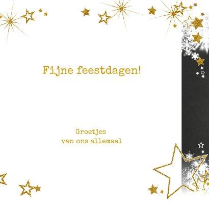 Stijlvolle nieuwjaarskaart sneeuw en sterren  champagne 2020 3