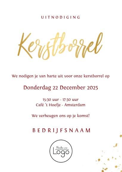Stijlvolle rode uitnodiging voor een zakelijke kerstborrel  3