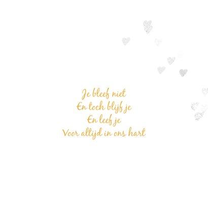 Stijlvolle rouwkaart voor een kindje 2