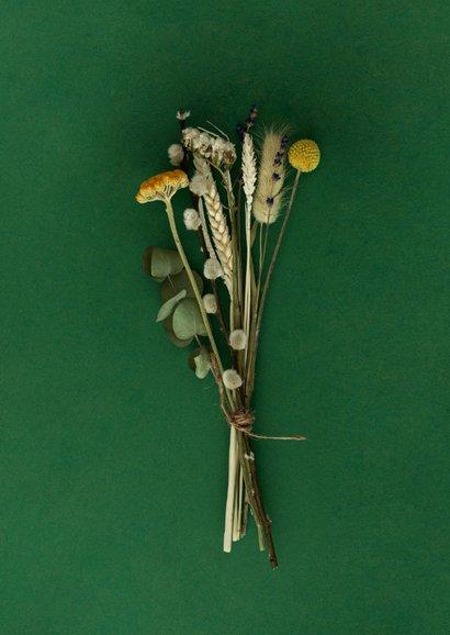 Stijlvolle sterktekaart met bloemen 2
