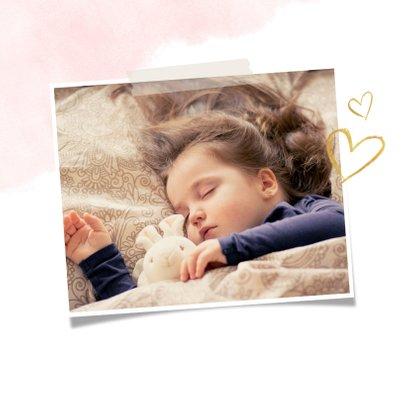 Stijlvolle trendy moederdagkaart met waterverf en goud 2