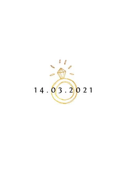Stijlvolle trouwkaart save the date met fotocollage 2
