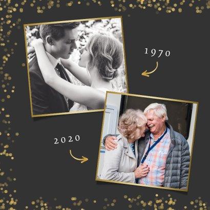 Stijlvolle uitnodiging gouden huwelijk met eigen foto  2