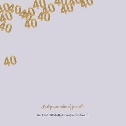 Stijlvolle uitnodiging huwelijk jubileum 40 jaar confetti 2