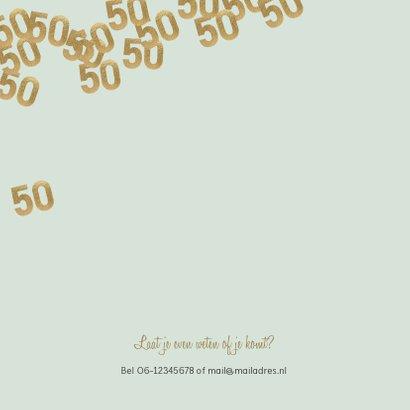 Stijlvolle uitnodiging huwelijk jubileum confetti 50 2