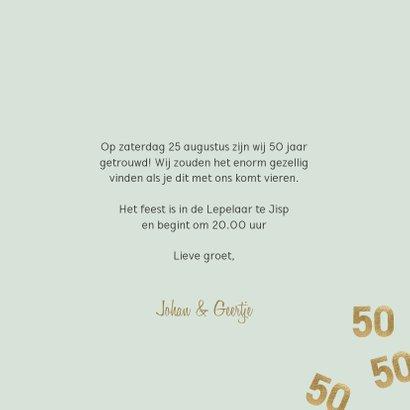Stijlvolle uitnodiging huwelijk jubileum confetti 50 3