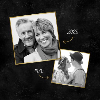 Stijlvolle uitnodiging jubileum 50 jaar getrouwd met foto's 2