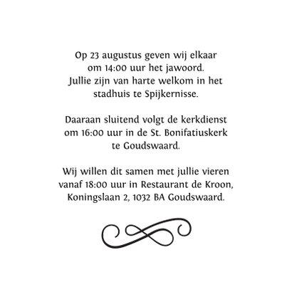 Stijlvolle uitnodiging strand bruiloft 3
