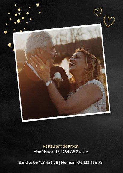 Stijlvolle uitnodigingskaart jubileum 50 jaar getrouwd 2